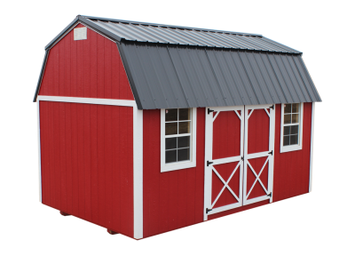 Lofted side barn portable building in Palm Coast, Florida